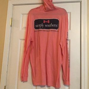 Ladies. XL hooded simply southern long sleeve